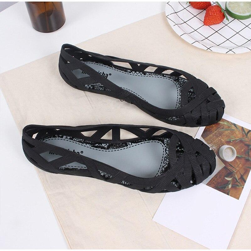 HTB1m 7PSwHqK1RjSZJnq6zNLpXaC MCCKLE Summer Women Sandals Hollow Flat Shoes Female Slip On Sandals Fashion Soft Light Slides Ladies Comfortable Beach Shoes