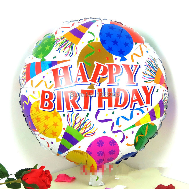 18 Inch Happy Birthday Helium Foil Balloons Birthday Party Suppliers Birthday Ba