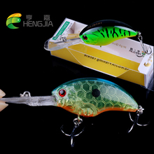 HENGJIA hard plastic top water crankbaits wobbler artificial swimbaits pesca fishing tackles 9cm 13g 6#hooks