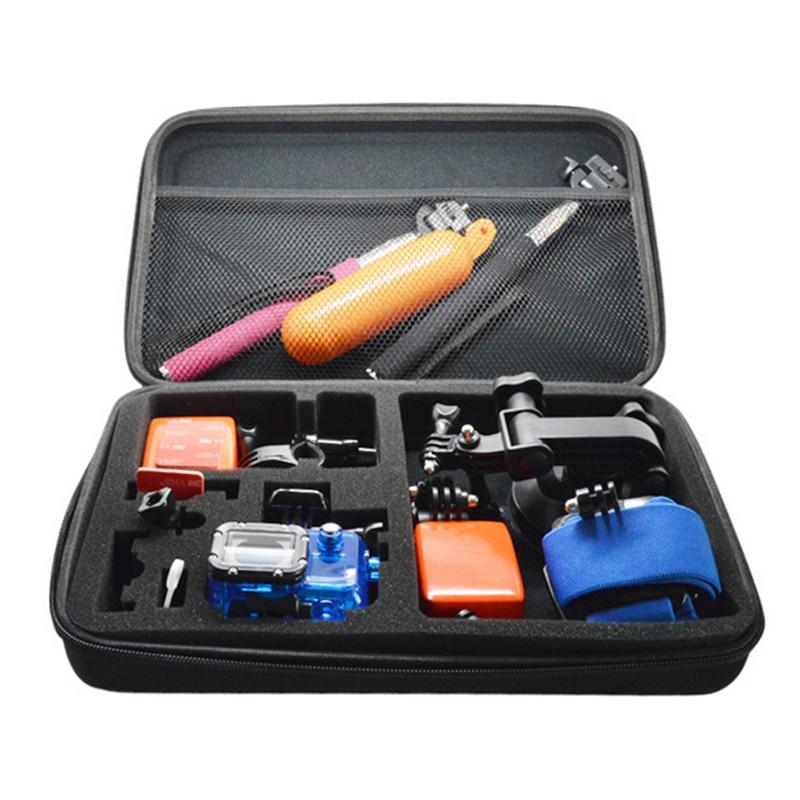 Orbmart 14 in 1 Essential Accessories Bag Kit For GoPro HERO 4 3 3+ 2 1 Xiaomi Yi Xiaoyi Sj4000 SJCAM SOOCOO Sport Action Camera