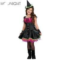Witch Costume Fancy Children Halloween 2015 Red Black Witch Costume Girls Cosplay Christmas Halloween Fancy Dresses