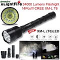 DC 12 Shining Hot Selling Drop Shipping XLightFire 34000 Lumens 14x CREE XML T6 5 Mode 18650 Super Bright LED Flashlight