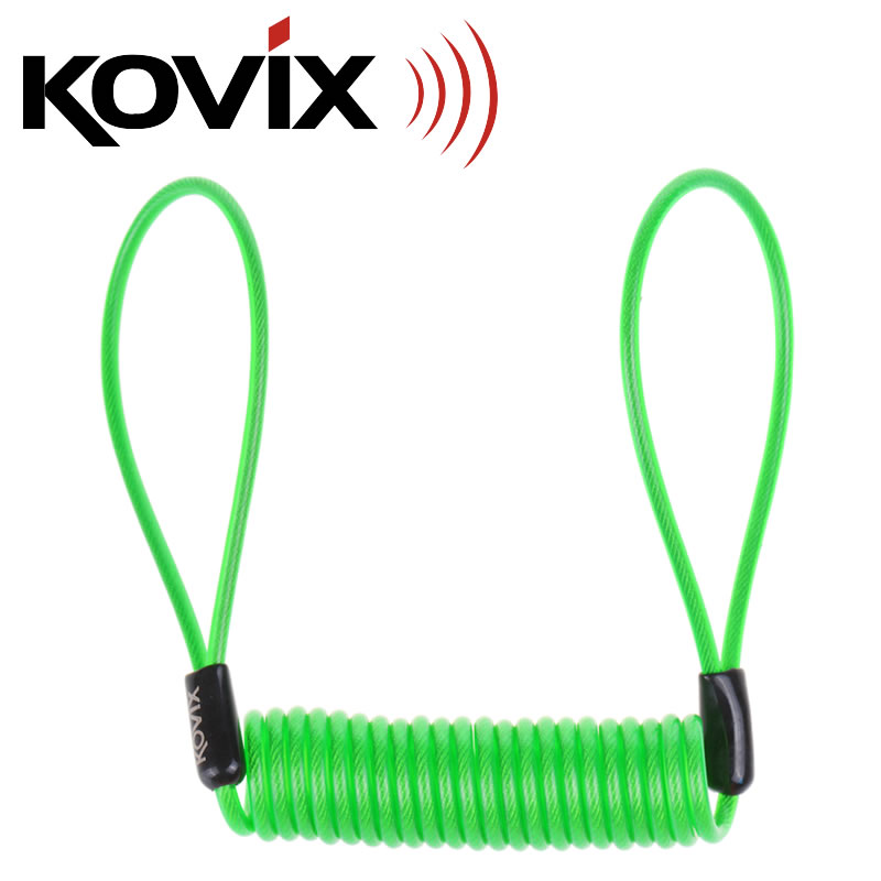 KOVIX Motorcycle Reminder Rope 1.35m Cable Anti-theft Motorbike Disc Security