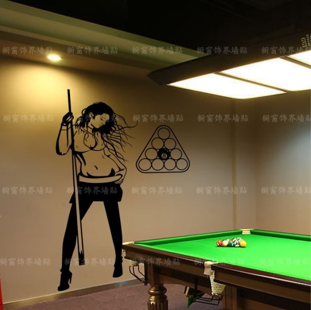 Free Shipping Beauty Sexy Girl Snooker Personality Wall