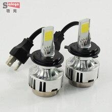 H4 66w COB H4 LED headlight bulbs 6000LM headlamp LED  headlight  FOR Universal Car LED Headlight Fog light Bulbs 12v