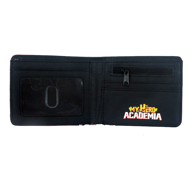 hot selling 2018 products Anime My Hero Academia deku wallet Short Purse With Coin Pocket Card Holder