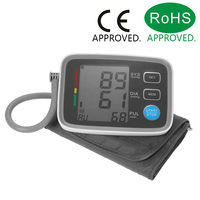 LCD Upper Arm Blood Pressure Monitor with Cuff Digital Sphygmomanometer 2 User Mode/90 Data Memory/IHB Indicator/PR CE & FDA