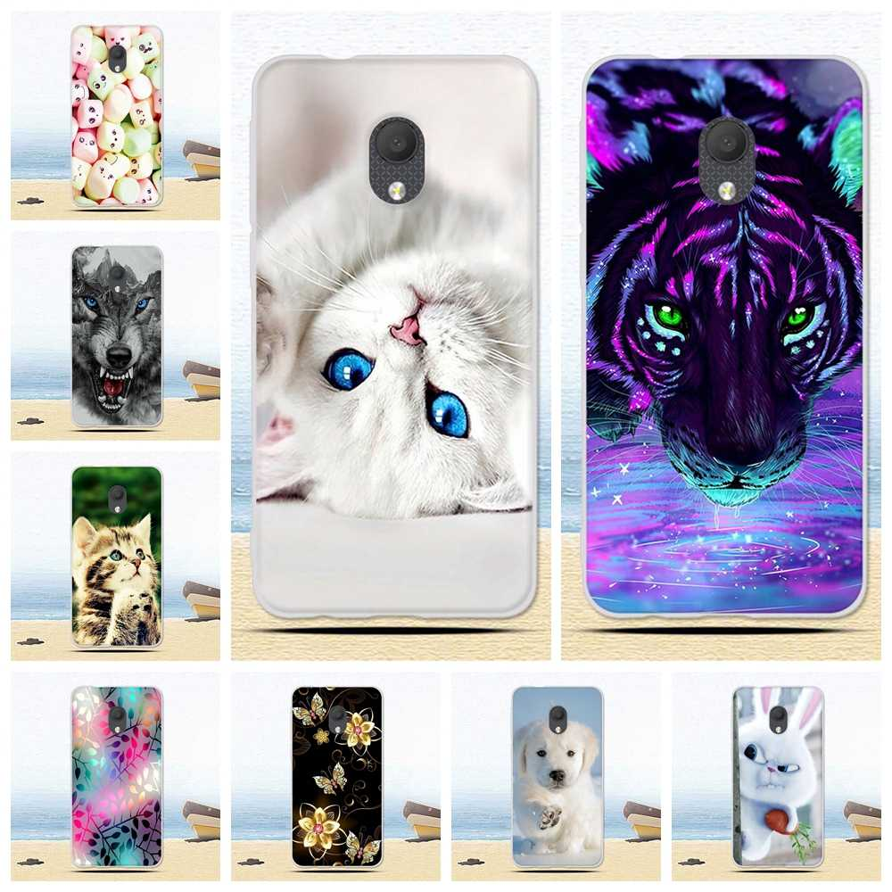 Painted Case For Alcatel 1C 1X 1S 2019 Case Silicone Soft TPU Cases For Alcatel 1 2019 Cover Wildflowers Cute Animal Bags