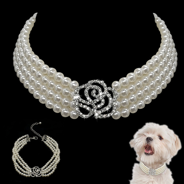 Pearl Dog Necklace Collar