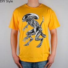 AVP ALIEN VS predator T-shirt Top Lycra Cotton Men T shirt New Design High Quality
