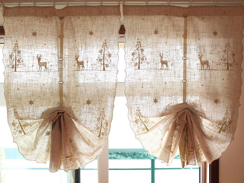 font country style gold tree deer linen cotton balloon curtains uk and amish furniture drapes