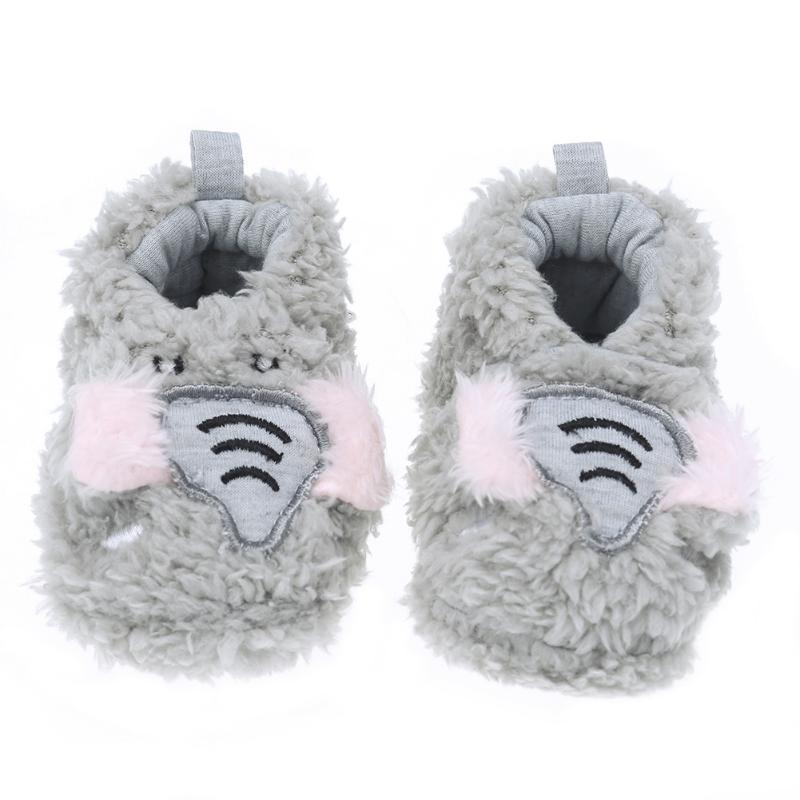 Lovely Soft Toddler Newborn Baby Coral Shoes Cute Animal Fleece Anti-slip Casual First Walker Shoes Bbay Best Gift