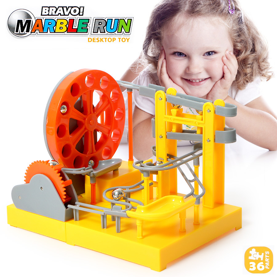 Large Electric Maze Ball Track Marble Race Run Blocks DIY Inserted Building blocks Early Educational Puzzles Toys for Children