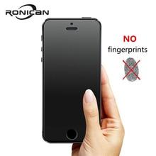 RONICAN sans empreinte digitale Premium verre trempé protecteur décran pour iphone 5 5C verre dépoli Film de protection pour iphone 5s SE