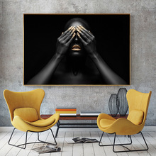 Canvas Painting Wall Art Pictures prints Black woman on canvas no frame home decor Wall poster decoration for living room canvas painting wall art pictures prints colorful woman on canvas no frame home decor wall poster decoration for living room