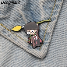 DMLSKY Wizard Student Funny Brooch Metal Enamel Pin Women and Men Fashion Brooches Clothes badge Shirt Collar Pins M2881