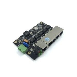 Image 3 - 管理 5 ポート 10/100 メートル産業用イーサネットスイッチ pcba ボード OEM 自動オートセンシングポート PCBA ボード OEM マザーボード