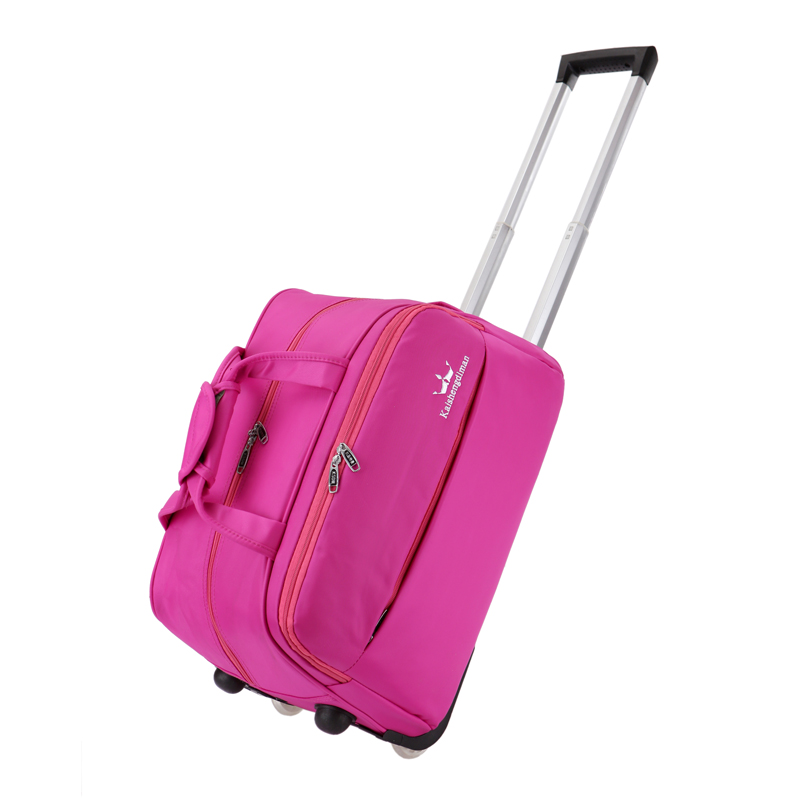 High quality 20 22inches trolley luggage bag on fixed caster,purple,hot pink,black,brown color bag for male and female,new hot 1pz 3 inch high quality wearable long working life fixed nylon medium duty caster and weel