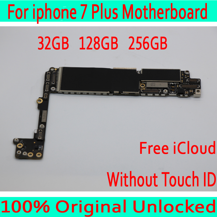 For iphone 7 Plus 5.5inch Motherboard without Touch ID 100% Originl unlocked for iphone 7P Logic board 32GB 128GB 256GBFor iphone 7 Plus 5.5inch Motherboard without Touch ID 100% Originl unlocked for iphone 7P Logic board 32GB 128GB 256GB