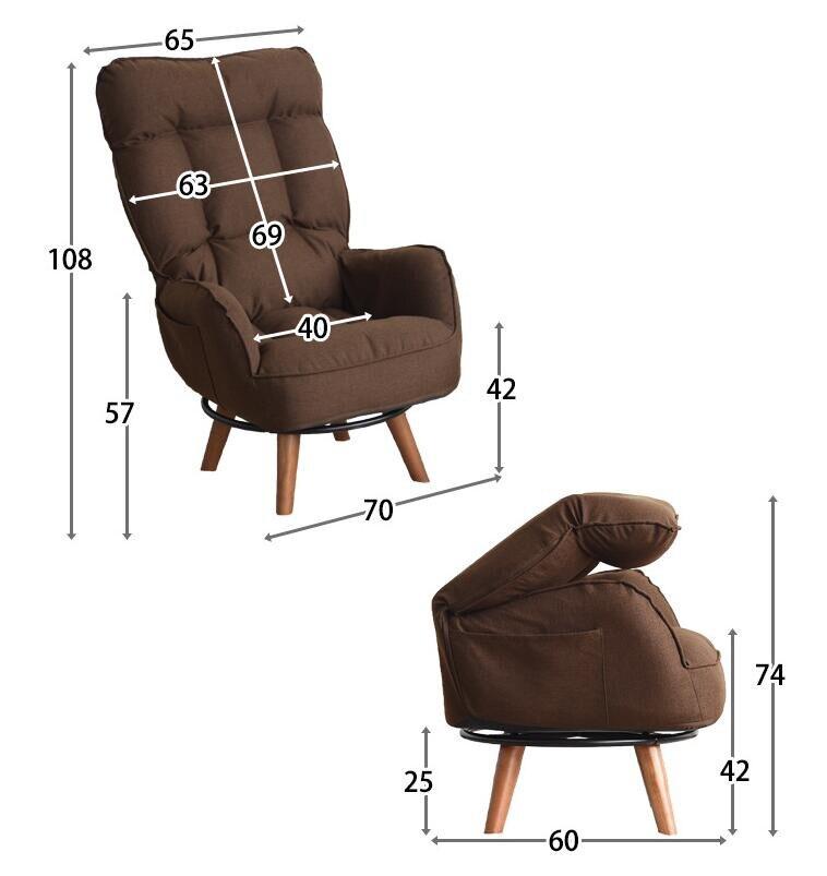 Schon Zeitgenössische Swivel Accent Arm Stuhl Hause Wohnzimmer Möbel Liege  Klappsessel Sofa Niedrigen Drehstuhl Für Ältere In Zeitgenössische Swivel  Accent Arm ...