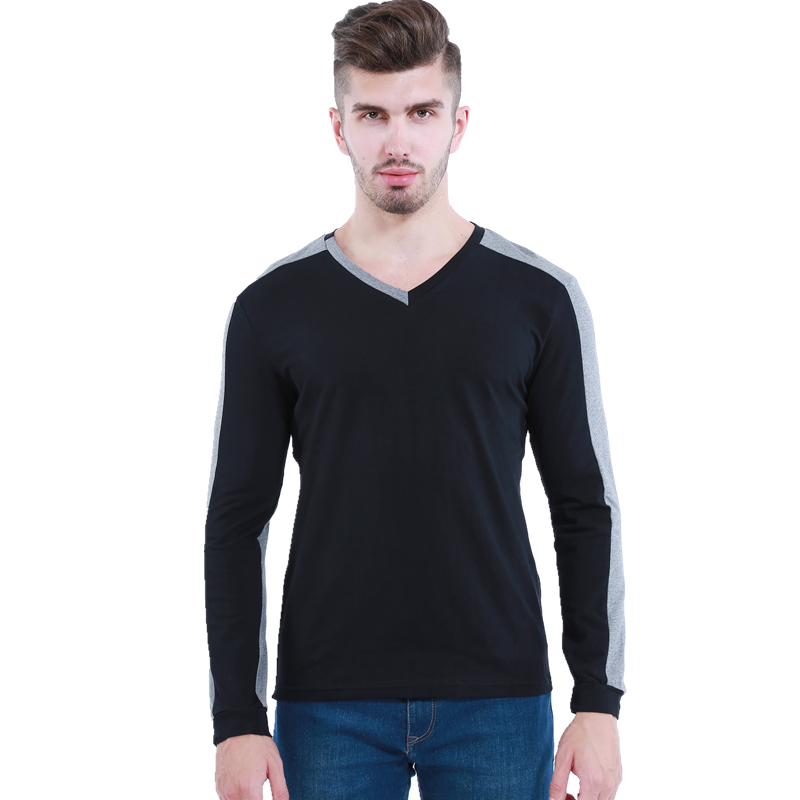 New Men/'s Fashion Casual Shirts Slim Fit Crew-neck Long Sleeve Tops Tee T-shirt
