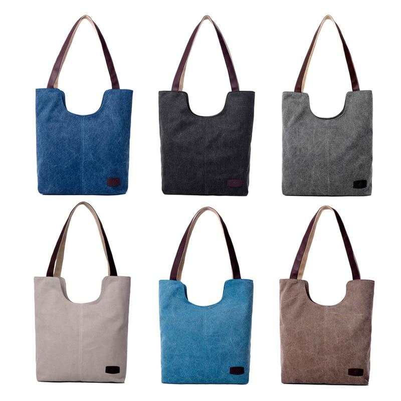 b8e2e49e06 Di Solido Cotone Le Nero Borse Per Tracolla Capacità il dark Della Lo  Shopping Beige azzurro Colore Tela ...
