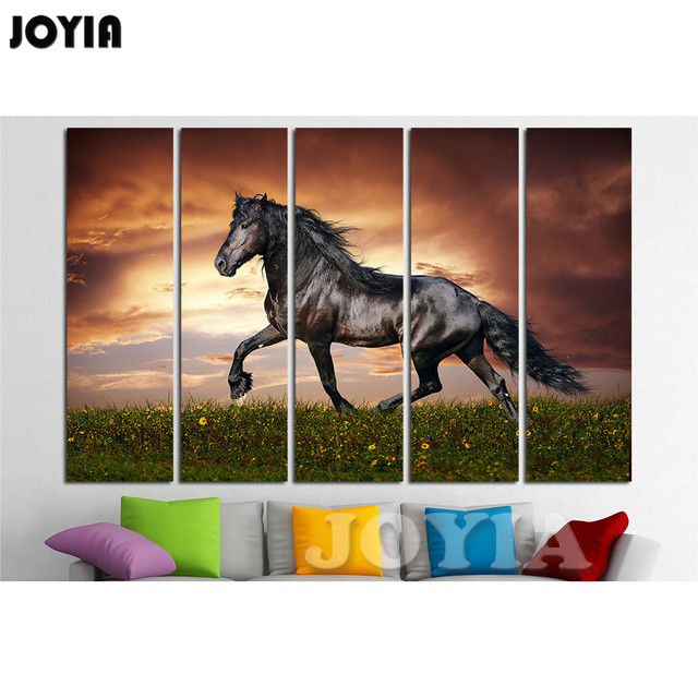 horse large canvas print wall art multi panel animals wall horse decoration painting 1 3 4