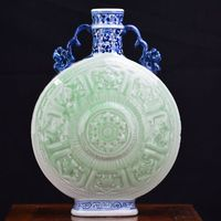 Jingdezhen ceramics, handmade vase bottle handicraft decoration beauty eighteen Arhats