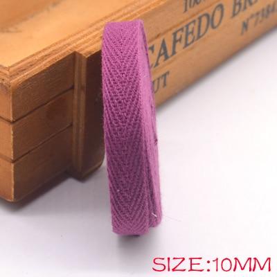 Новые цветные 10 мм шеврон хлопок ленты тесьма сельдь bonebinding ленты кружева обрезки для упаковки аксессуары DIY - Цвет: wine 400