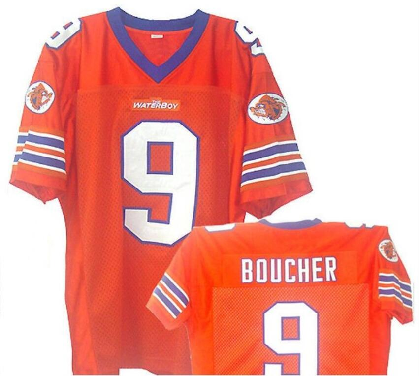77487824f6c Football Jersey Movie TV ShowAdam Sandler Bobby Boucher The Waterboy Mud  Dogs Football Jersey Orange-in America Football Jerseys from Sports &  Entertainment ...
