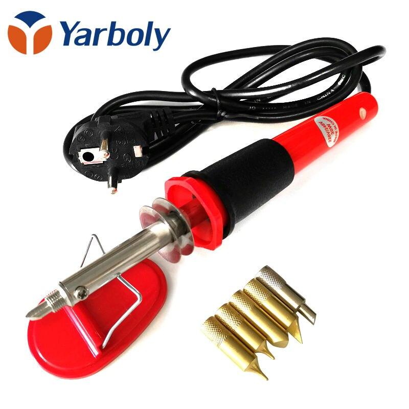 Прибор для выжигания 220 В-240 В DIY Craft дровяной припоя ручка дровяной ручки Электрический паяльник набор инструментов с 5 советы