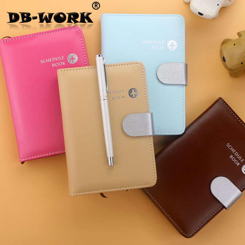 2018 Leather Notebook Calendar 50 k 60 k lotte leather travel log notepad program handbook of color planning calendar 2017 a5 calendar handbook of efficiency for industry and commerce business notepad log can be customized logo
