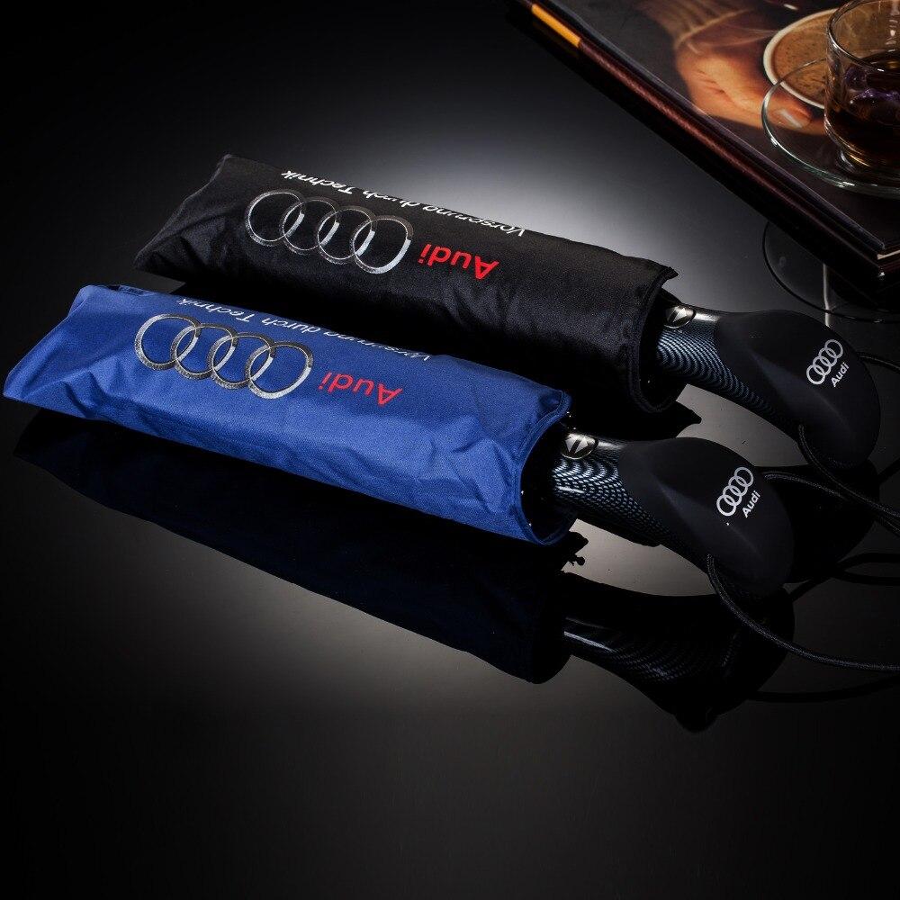 Alta calidad windproof Full-automatic plegable Paraguas para Audi sombrillas lluvia Sunny protección para hombres suave Coche