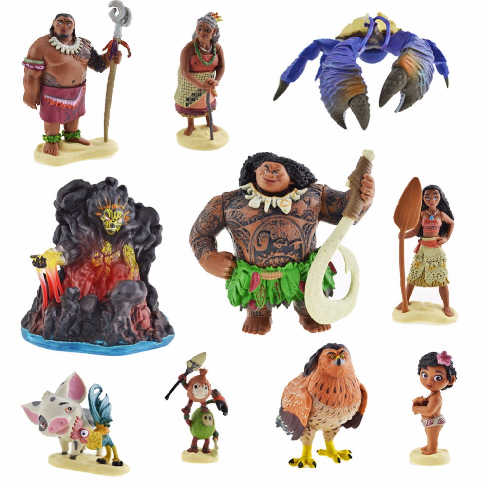 Moana Disney Character Design : Pcs set moana princess maui chief tui tala heihei pua