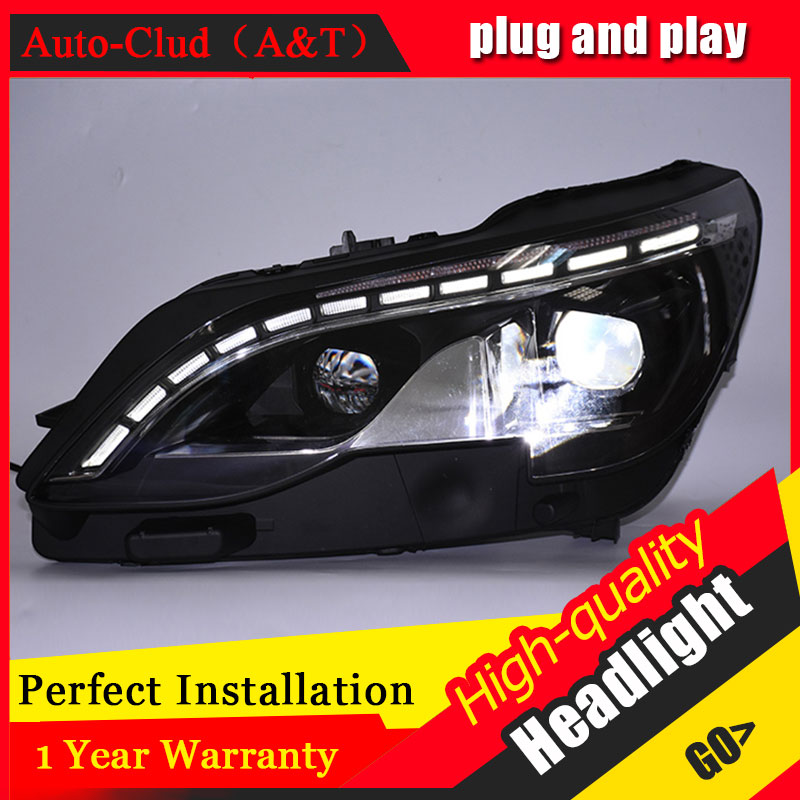 Auto Clud Car Styling For Peugeot 4008 headlights 2017 For 4008 head lamp led DRL front Bi-Xenon Lens Double Beam HID KIT hireno headlamp for peugeot 4008 5008 headlight headlight assembly led drl angel lens double beam hid xenon 2pcs