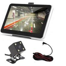 7-дюймовый автомобильный gps навигации Bluetooth AV-IN обратный Камера 4 светодиодный Ночное ВИДЕНИЕ CCD камера заднего вида Камера для парковочной системы