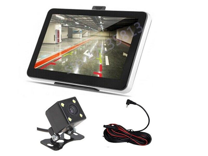 7 zoll Auto GPS Navigation Bluetooth AV-IN Reverse Kamera 4 LED Nachtsicht CCD Auto Rückansicht Kamera Parkplatz Monitor