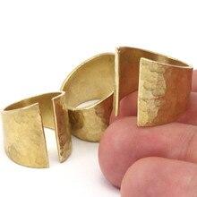 4pc .. Anéis ajustáveis em latão cru em branco yn138