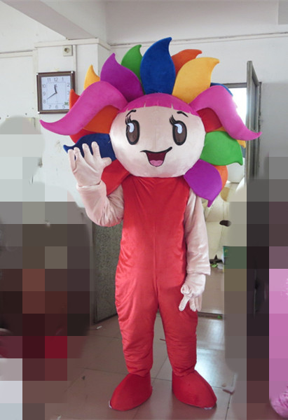 2017 colorful sunflower mascot costume for adults