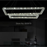 2014 The Newest Three Sides Of The Crystal Pendant Light Raimond Square Crystal Lamp Top Quality