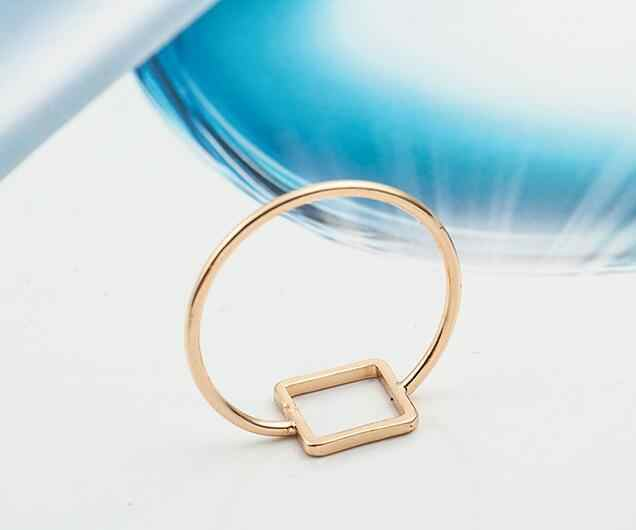 Z 145 design Simples Europa e nos Estados Unidos anel geométrica Triângulo quadrado redondo mix anel de homens e mulheres de jóias acessórios