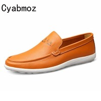 Plus Size 38 46 47 Top Quality Men Flats Shoes Genuine Leather Men Shoes Handmade Loafers
