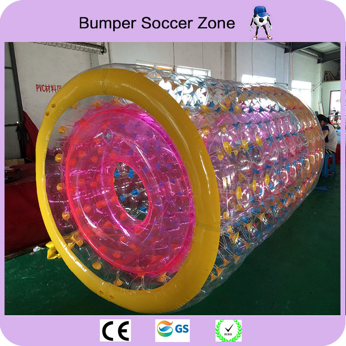 Free shipping PVC Inflatable Water Roller Ball Walk On Water Roller Wheel For Adults Or Kids inflatable water spoon outdoor game water ball summer water spray beach ball lawn playing ball children s toy ball