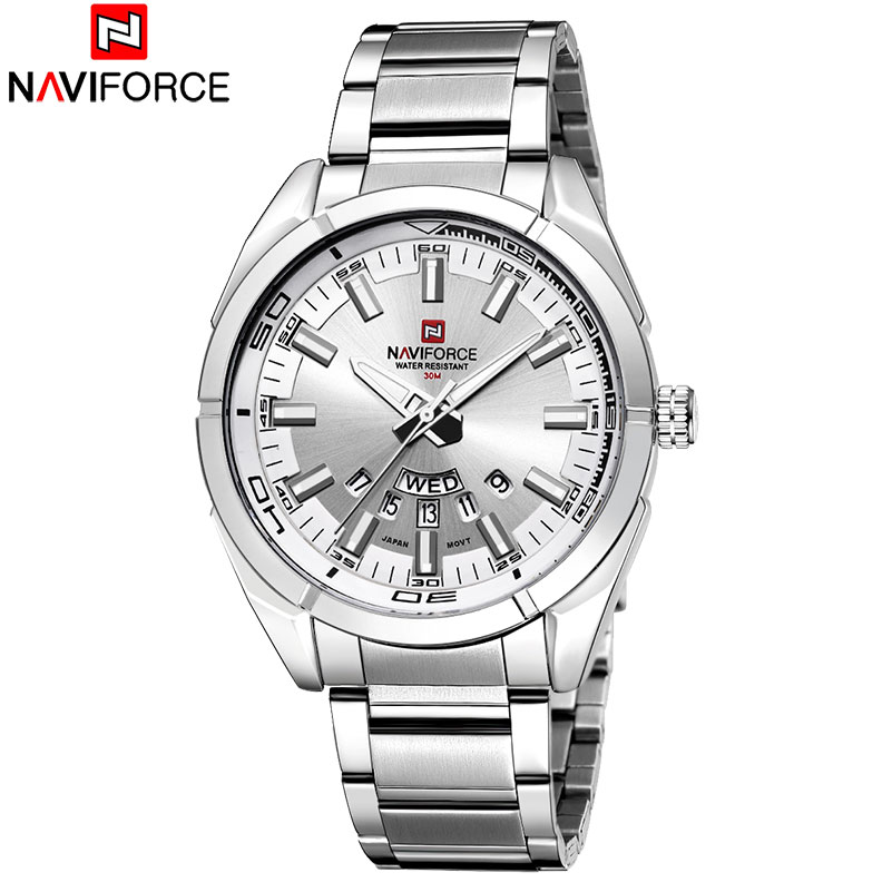 NAVIFORCE Brand Watches Men Quartz Watches Man's Steel Watch Fashion Auto Date Wristwaches Drop Shipping Wholesale Reloj Hombre