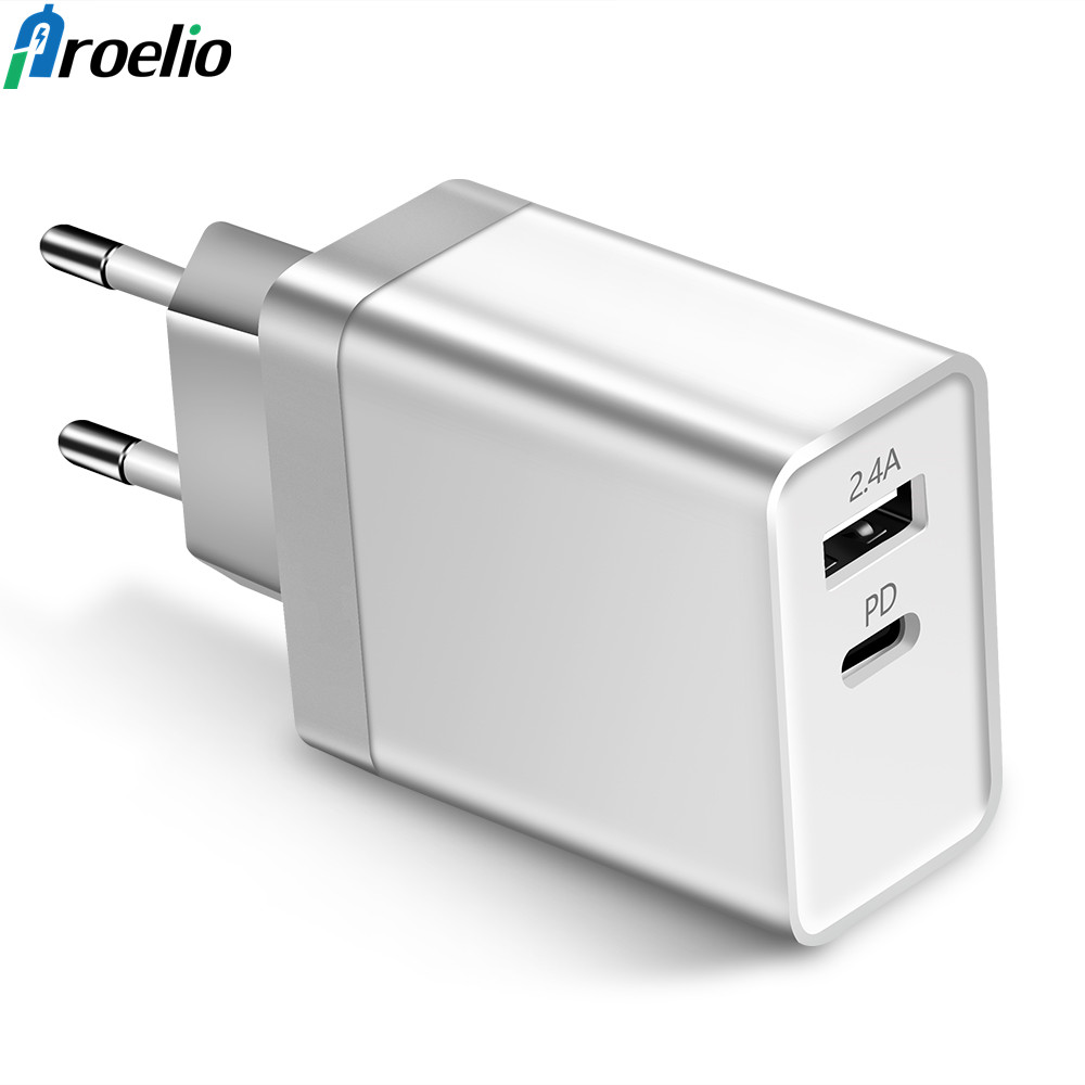 Proelio USB PD Type-C Wall Charger Power Adapter with Power Delivery for Apple MacBook/iPhone X/8 Plus Xiaomi USB-C PD Charger