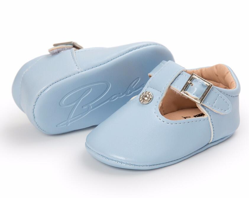 2019 Romirus New Style Soft PU Leather Baby Moccasins Mary Jane Baby Girls Shoes Newborn Kids First Walkers Princess Shoes