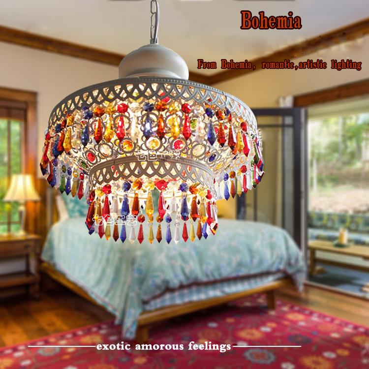 цены Bohemian Pendant Light Mediterranean Style Lighting South-East Asia Lamp Decoration Led E27 Dining Room Light