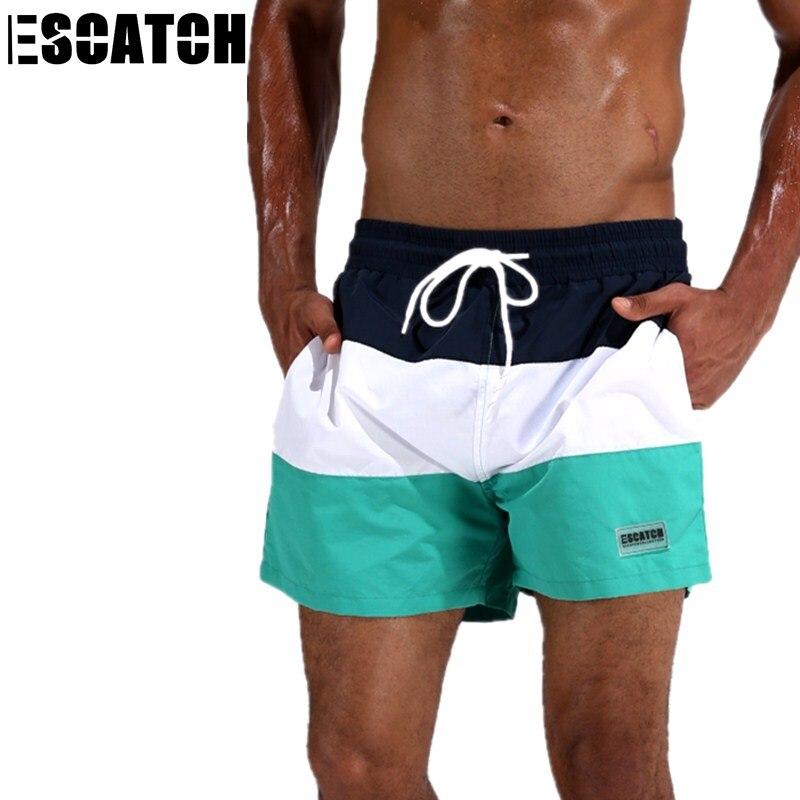 f32d99e213 Escatch Quick Dry Men's Board Shorts Summer Surf Beach Shorts Sport  Swimwear Men Boardshorts Man Gym Bermuda Swimsuit