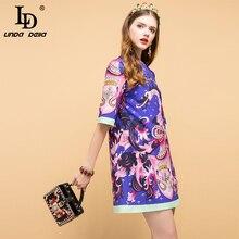 Gorgeous Beading Animal Printed Mini Dresses