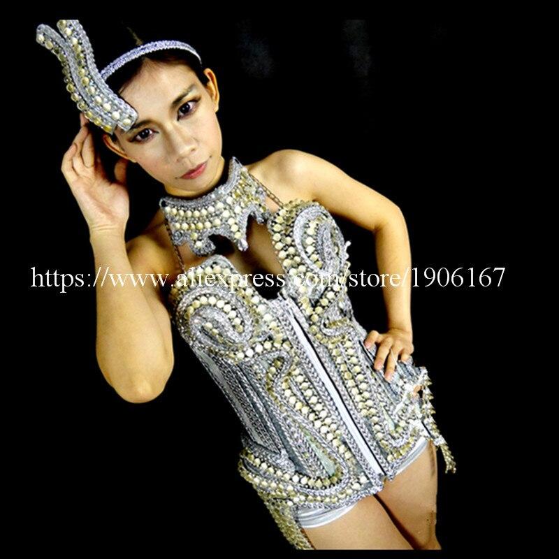 Dizajni i ri Led Luminous Vest Bra Belt rripin e rrobave Ballroom, - Furnizimet e partisë - Foto 2